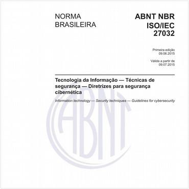 NBRISO/IEC27032 de 06/2015