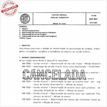 NBR8631 de 10/1984