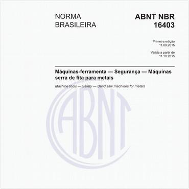 NBR16403 de 09/2015
