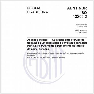 NBRISO13300-2 de 09/2015