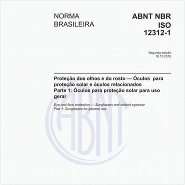 e087856de4563 ABNT NBR ISO 12312-1 NBRISO12312-1 Proteção dos olhos e do rosto -