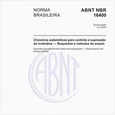 NBR16400 de 04/2018
