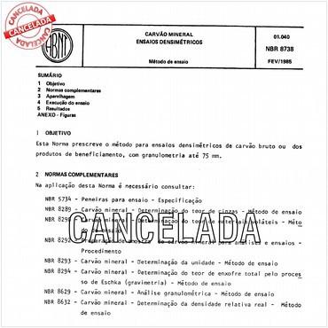 NBR8738 de 02/1985