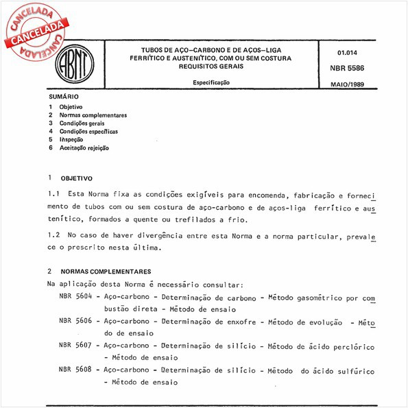 Tubos de aço-carbono e de aços-liga ferrítico e austenítico, com ou sem costura - Requisitos gerais