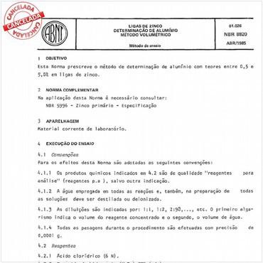 NBR8820 de 04/1985