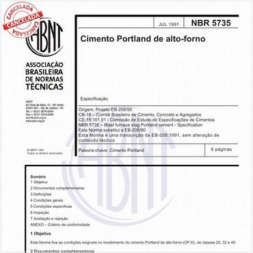 NBR5735 de 07/1991