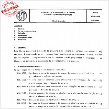 NBR8949 de 07/1985