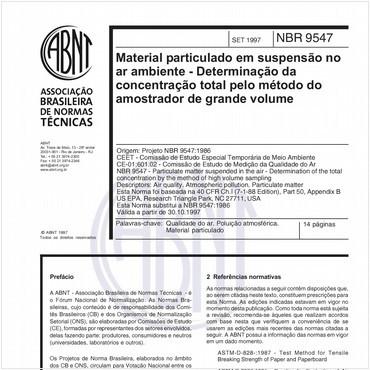 NBR9547 de 09/1997