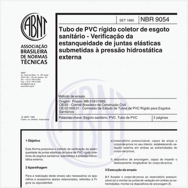 NBR9054 de 09/1985
