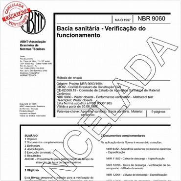 NBR9060 de 05/1997