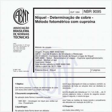 NBR9095 de 10/1994