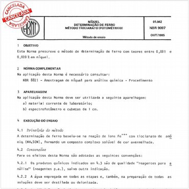 NBR9097 de 10/1985