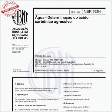 NBR9254 de 02/1986