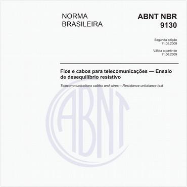 NBR9130 de 05/2009
