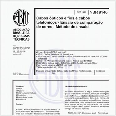 NBR9140 de 12/1998