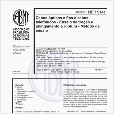 NBR9141 de 12/1998