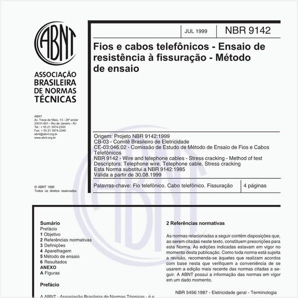 NBR9142 de 07/1999