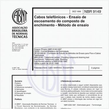 NBR9149 de 12/1998