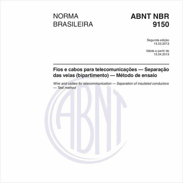 Fios e cabos para telecomunicações — Separação das veias (bipartimento) — Método de ensaio