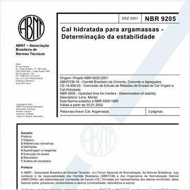 NBR9205 de 12/2001