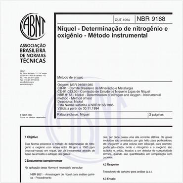 NBR9168 de 10/1994