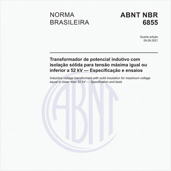 Transformador de potencial indutivo - Requisitos e ensaios