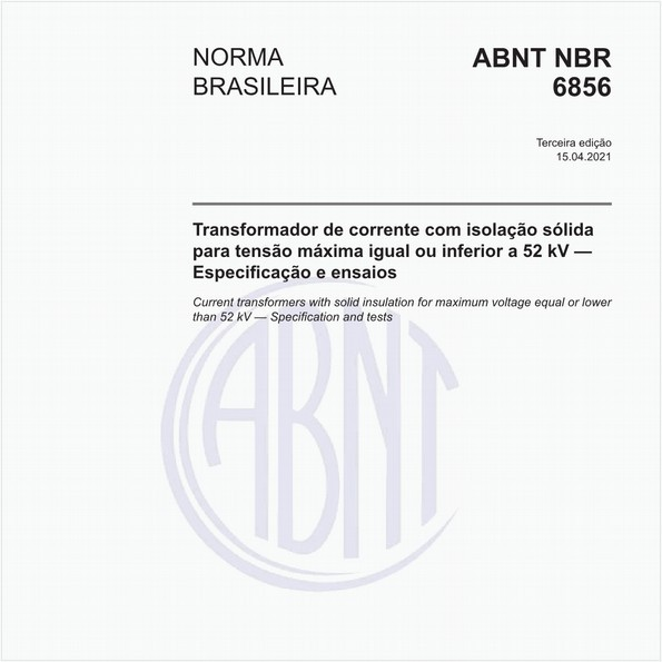 Transformador de corrente - Especificação e ensaios