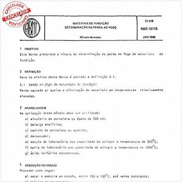 NBR10178 de 01/1988