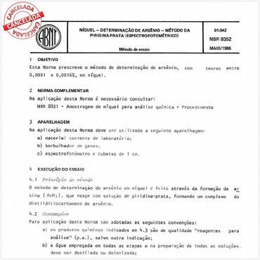 NBR9352 de 05/1986