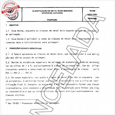 NBR6384 de 12/1980