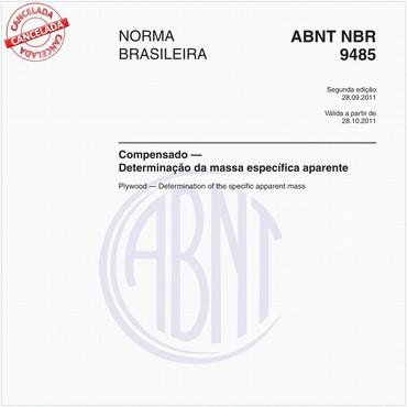 NBR9485 de 09/2011
