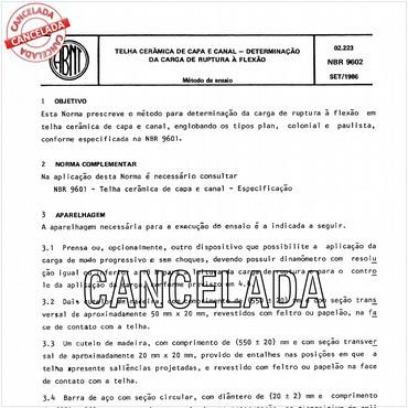 NBR9602 de 09/1986