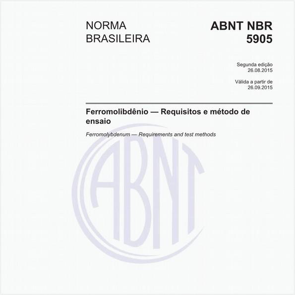Ferromolibdênio - Requisitos e método de ensaio