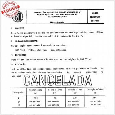 NBR9517 de 09/1986