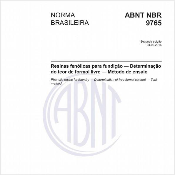 Resinas fenólicas para fundição — Determinação do teor de formol livre — Método de ensaio