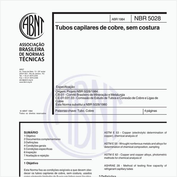 Tubos capilares de cobre, sem costura