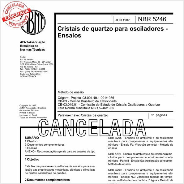 NBR5246 de 10/2012