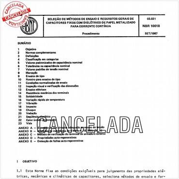 NBR10018 de 09/1987