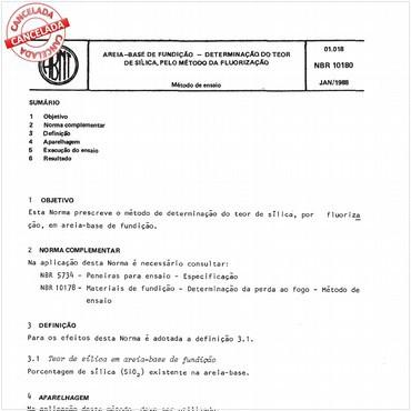 NBR10180 de 01/1988