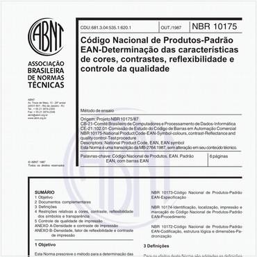 NBR10175 de 10/1987