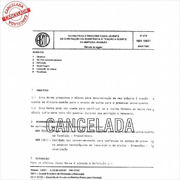 NBR10631 de 10/2011