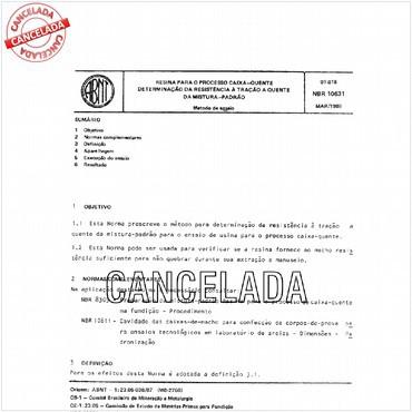 NBR10631 de 03/1989