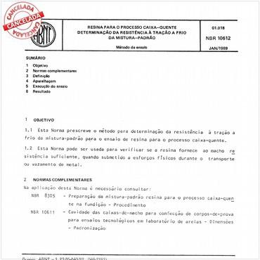 NBR10612 de 01/1989