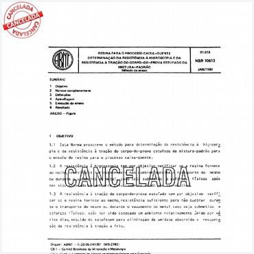 NBR10613 de 01/1989