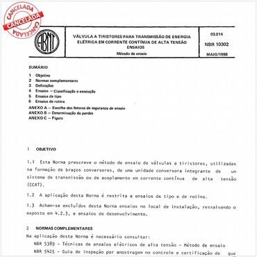 NBR10302 de 05/1988