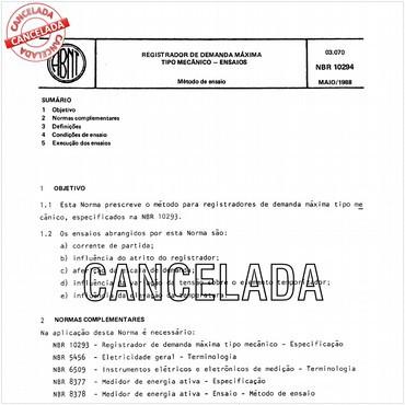 NBR10294 de 05/1988