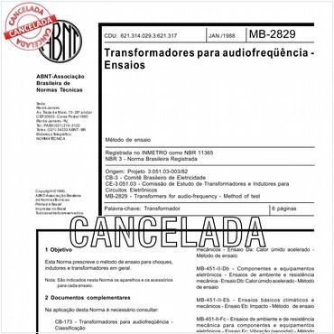 NBR11365 de 01/1988