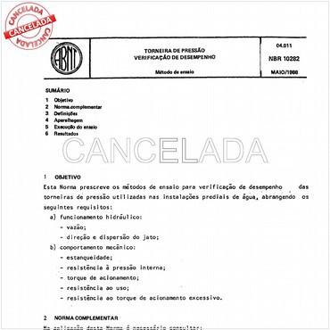 NBR10282 de 05/1988