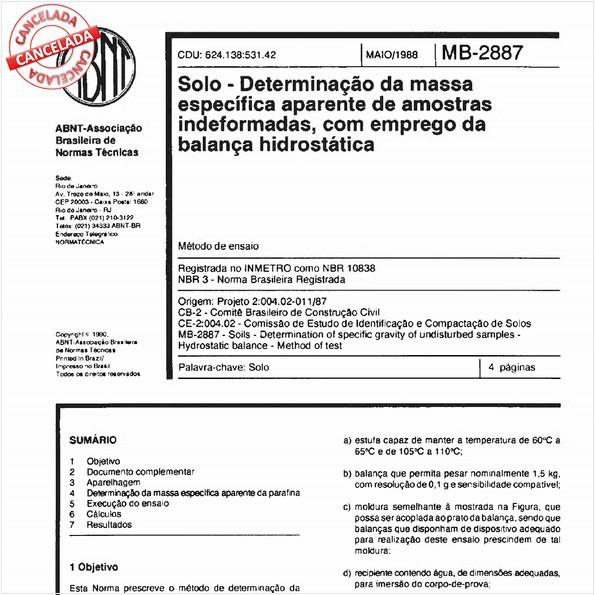 NBR10838 de 07/2015