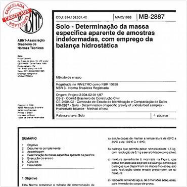 NBR10838 de 05/1988
